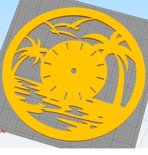 Decorative Wall Clock C3 3D Print 227915