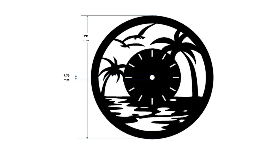 Decorative Wall Clock C3 3D Print 227916