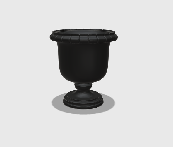 Dollhouse Miniature Urn Planter 1:48, 1:24, 1:12 and 1:6 Scale 3D Print 227939