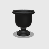 Small Dollhouse Miniature Urn Planter 1:48, 1:24, 1:12 and 1:6 Scale 3D Printing 227939