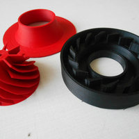 Small turbocharger with electric motor 3D Printing 22801