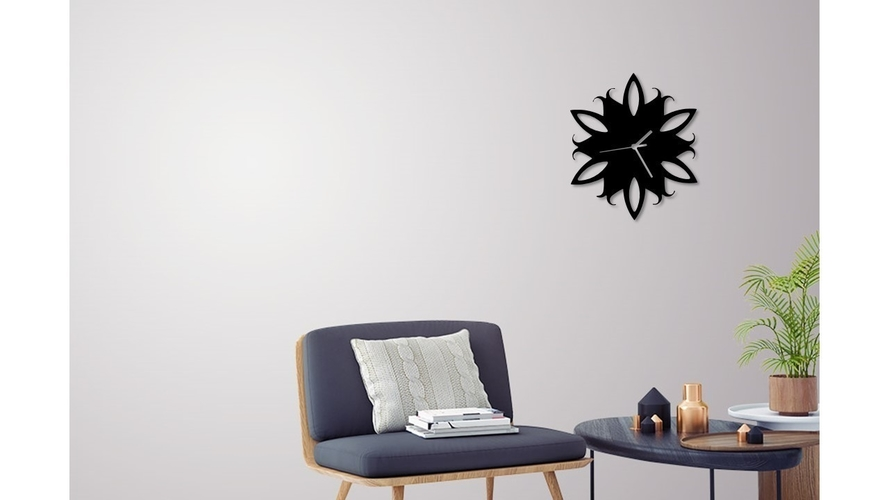 Decorative Wall Clock C4 3D Print 228035