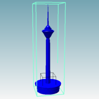 Small TOWER (h =  3000 mm ) 3D Printing 228125