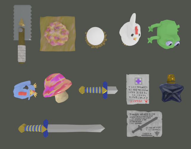 The Legend of Zelda:  Ocarina of Time - Trading Sequence Items 3D Print 228135