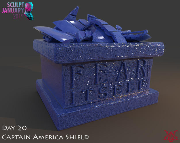 Captain America Shield 3 Versions 3D Print 228143