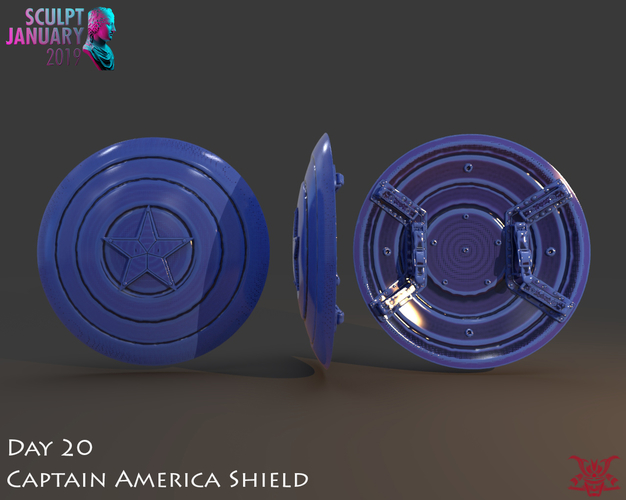 Captain America Shield 3 Versions 3D Print 228144