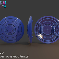 Small Captain America Shield 3 Versions 3D Printing 228144