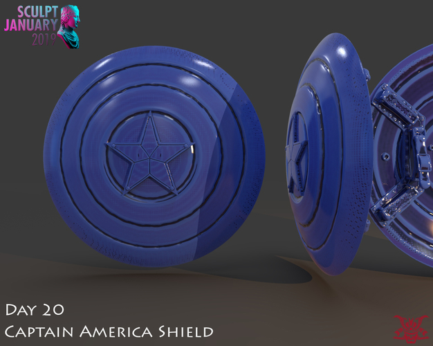 Captain America Shield 3 Versions 3D Print 228145