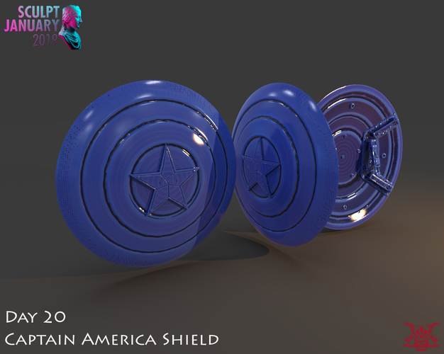 Captain America Shield 3 Versions 3D Print 228146