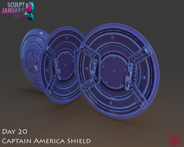 Captain America Shield 3 Versions 3D Print 228147