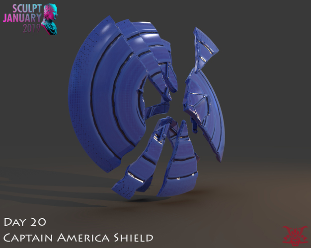 Captain America Shield 3 Versions 3D Print 228148