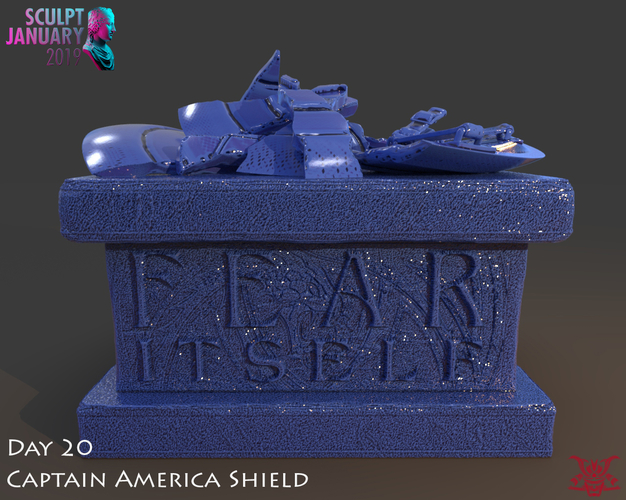 Captain America Shield 3 Versions 3D Print 228152