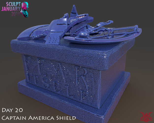 Captain America Shield 3 Versions 3D Print 228153