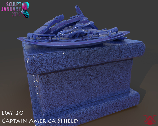Captain America Shield 3 Versions 3D Print 228154