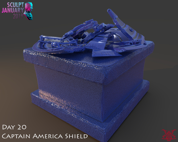 Captain America Shield 3 Versions 3D Print 228155
