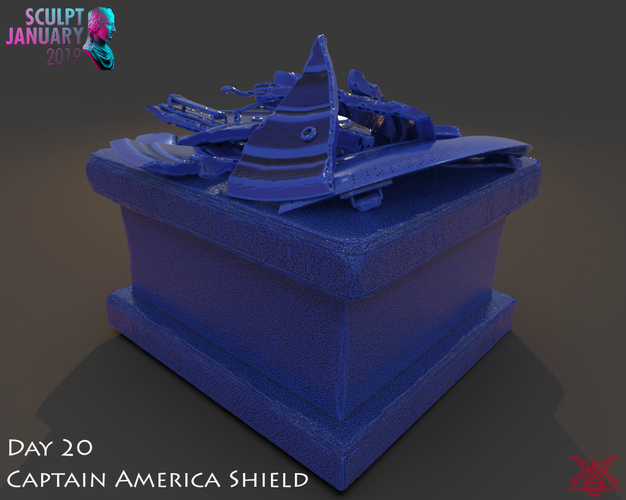 Captain America Shield 3 Versions 3D Print 228156