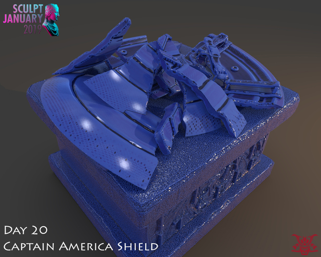 Captain America Shield 3 Versions 3D Print 228157