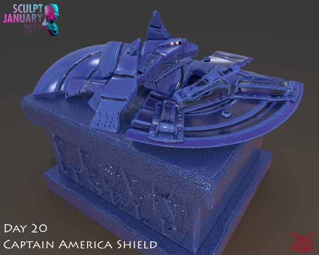 Captain America Shield 3 Versions 3D Print 228158