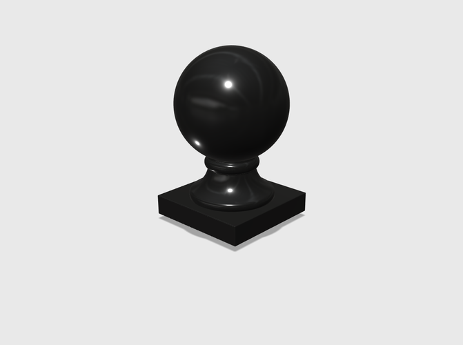 Dollhouse Miniature Globe Finial 1:48, 1:24, 1:12 and 1:6 Scale 3D Print 228209