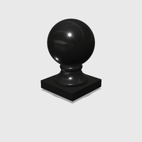 Small Dollhouse Miniature Globe Finial 1:48, 1:24, 1:12 and 1:6 Scale 3D Printing 228209