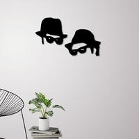 Small Men in black wall decoration 3D Printing 228216