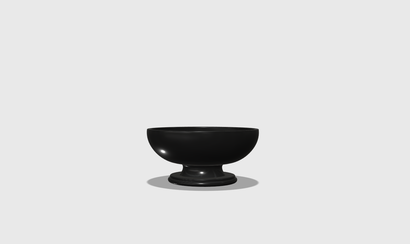 Dollhouse Miniature Pedestal Bowl 1:48, 1:24, 1:12 and 1:6 Scale 3D Print 228217
