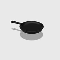 Small Dollhouse Miniature Skillet 1:48, 1:24, 1:12 and 1:6 Scale 3D Printing 228221