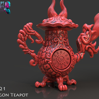 Small Dragon Tea Pot Cannon 3D Printing 228227