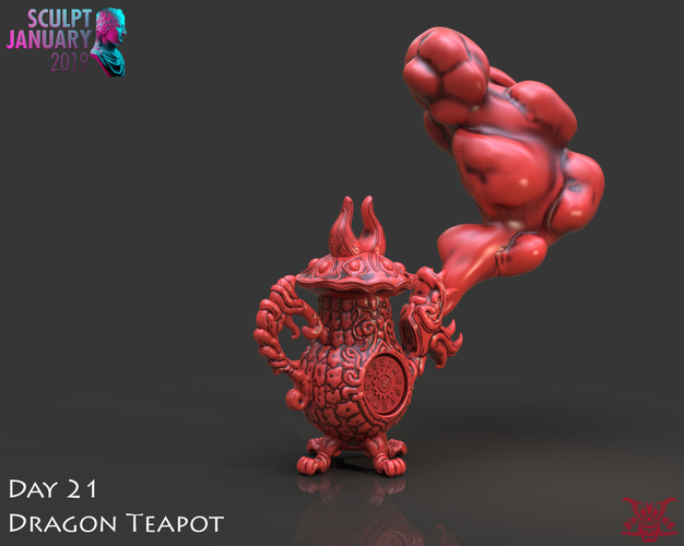 Dragon Tea Pot Cannon 3D Print 228230