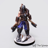 Small Nordic Warrior Miniature 3D Printing 228316