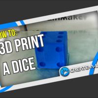 Small 3D Print a Dice 3D Printing 228323