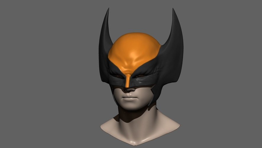 Wolverine Mask - Helmet For Cosplay from Marvel Scale 1:1 3D Print 228382