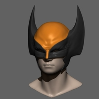 Small Wolverine Mask - Helmet For Cosplay from Marvel Scale 1:1 3D Printing 228382