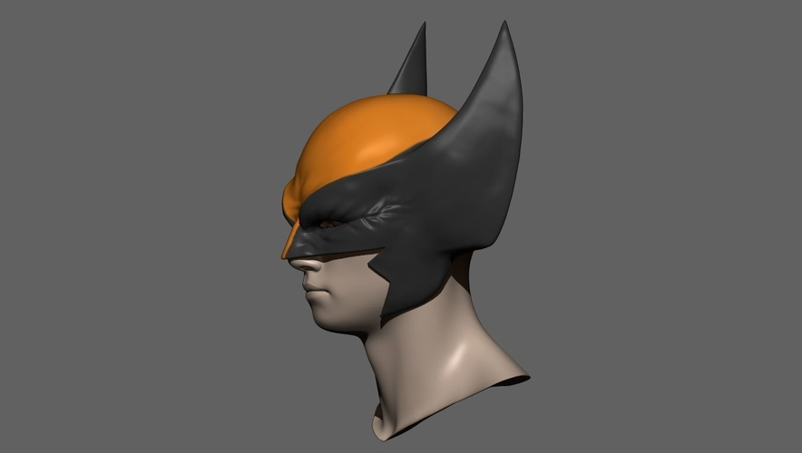 Wolverine Mask - Helmet For Cosplay from Marvel Scale 1:1 3D Print 228383