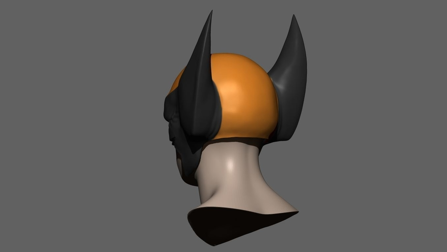 Wolverine Mask - Helmet For Cosplay from Marvel Scale 1:1 3D Print 228384