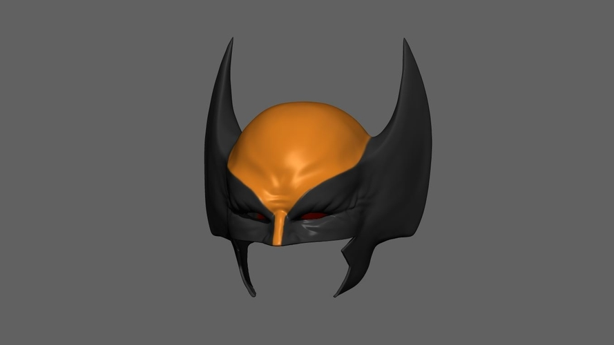 Wolverine Mask - Helmet For Cosplay from Marvel Scale 1:1 3D Print 228386
