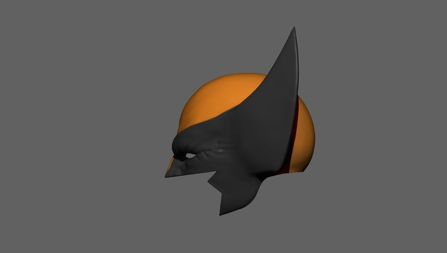 Wolverine Mask - Helmet For Cosplay from Marvel Scale 1:1 3D Print 228387