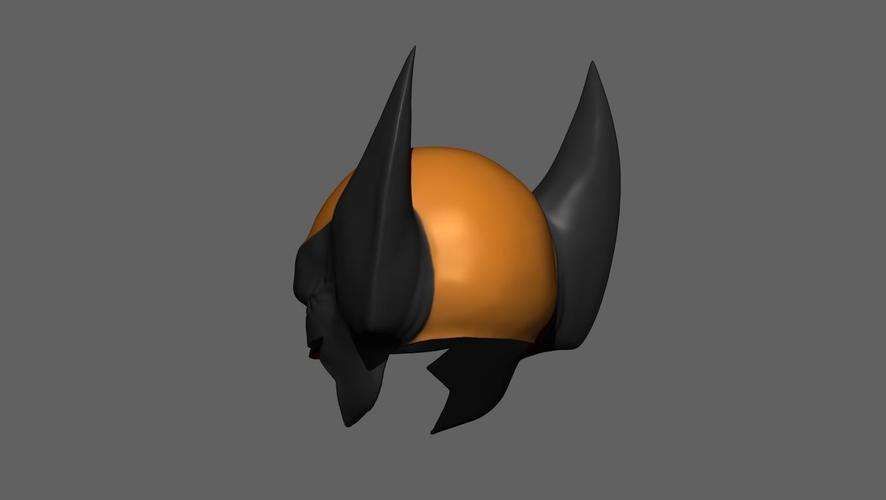 Wolverine Mask - Helmet For Cosplay from Marvel Scale 1:1 3D Print 228388