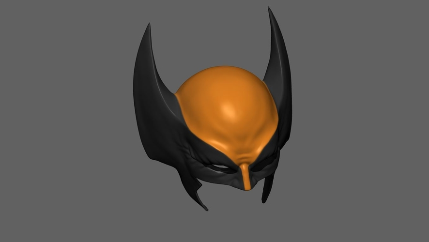 Wolverine Mask - Helmet For Cosplay from Marvel Scale 1:1 3D Print 228389