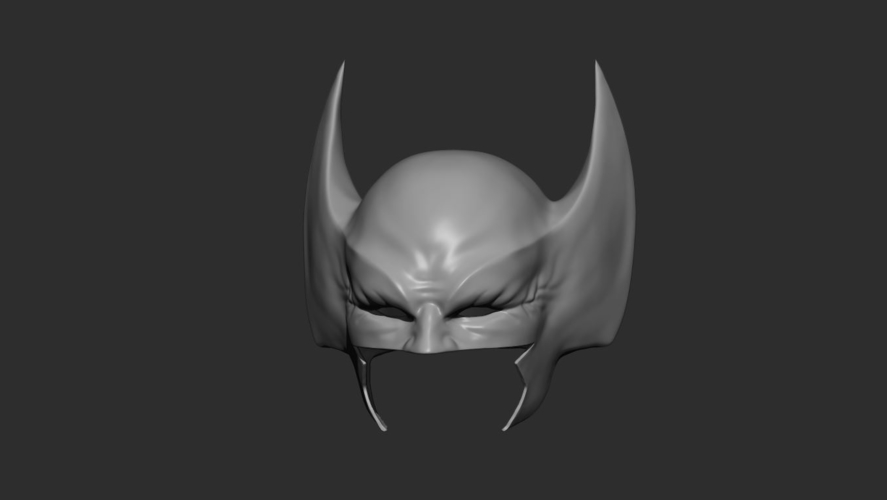 Wolverine Mask - Helmet For Cosplay from Marvel Scale 1:1 3D Print 228390