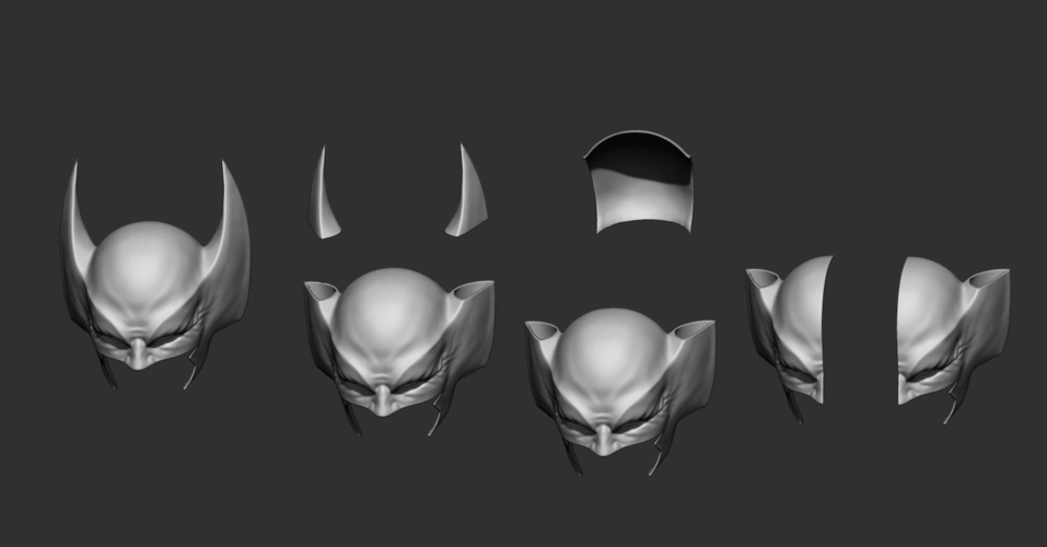 Wolverine Mask - Helmet For Cosplay from Marvel Scale 1:1 3D Print 228393