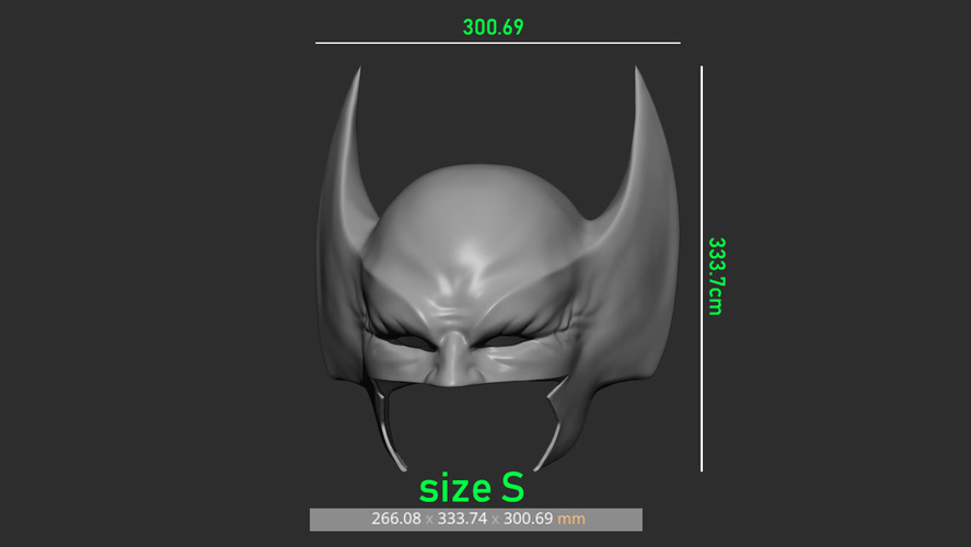 Wolverine Mask - Helmet For Cosplay from Marvel Scale 1:1 3D Print 228395
