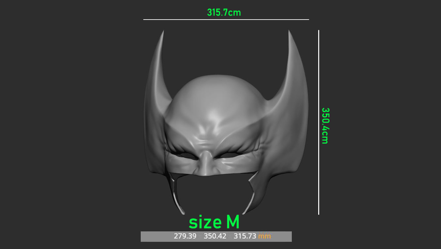 Wolverine Mask - Helmet For Cosplay from Marvel Scale 1:1 3D Print 228396