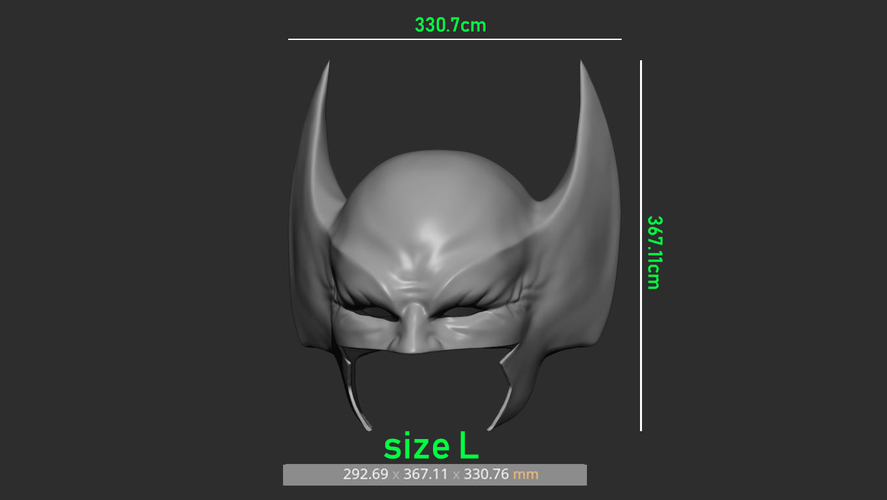 Wolverine Mask - Helmet For Cosplay from Marvel Scale 1:1 3D Print 228397