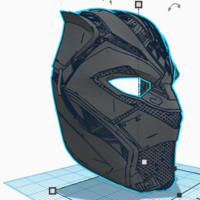 Small BLACK PANTHER HALF-MASK 3D Printing 228430