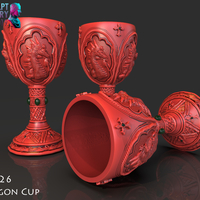 Small Dragon Cup 3D Printing 228531