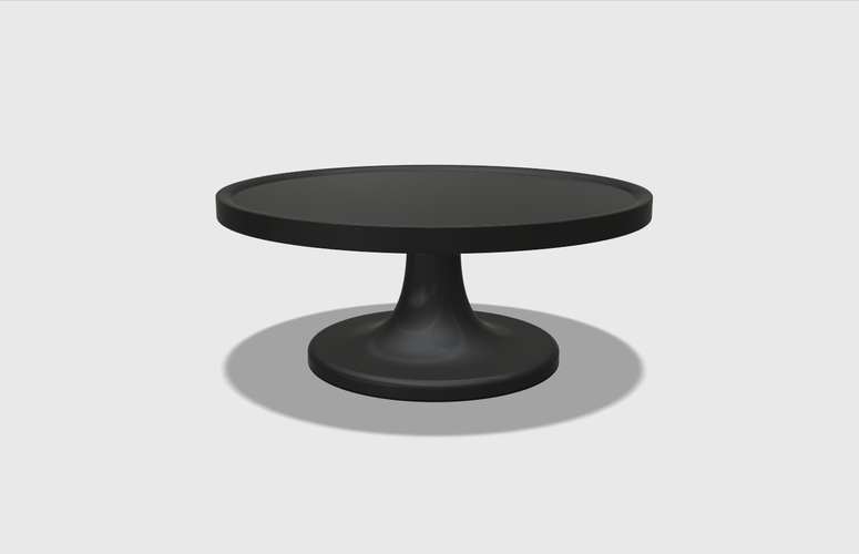 Dollhouse Miniature Cake Stand 1:48, 1:24, 1:12 and 1:6 Scale 3D Print 228552