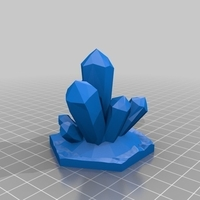 Small Warhammer Underworlds - Crystal Cluster Obstruction Terrain 3D Printing 228563