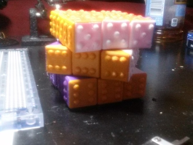 CUBE! Fully Functional... EASY PRINT... 3x3x3 cube 3D Print 22863