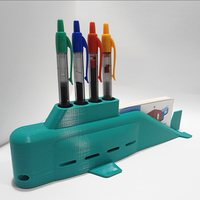 Small Submarine Pens and Business Cards Holder 3D Printing 228659